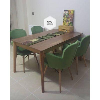 4 Kelebek Sandalye + Retro Masa 90x145cm
