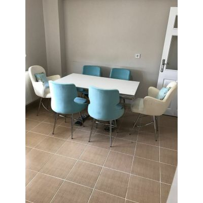 4 Selo Sandalye + 2 Kelebek Sandalye + İkon Masa