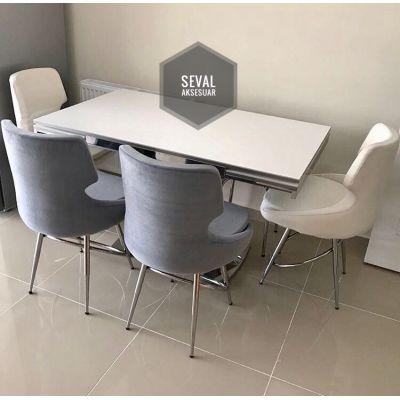 4 Adet Selo Sandalye + İkon Masa