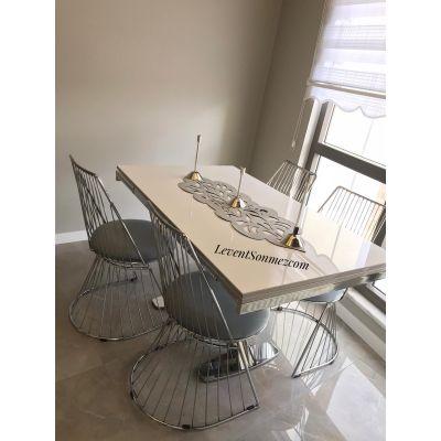 Tel Sandalye + İkon Masa
