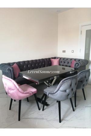 Chester Köşe Takımı + 3 Dış Premium Sandalye