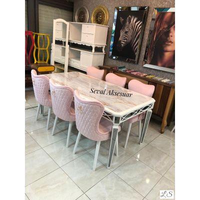 Seval Mermer Desen Salon Takımı