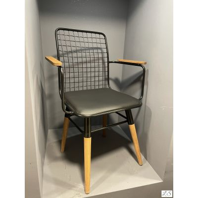 Kollu Tel Sandalye