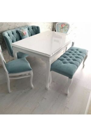 Elif Bank+2 İnci Sandalye+Lükens Sabit Masa