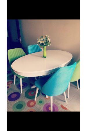Retro Sandalye+Oval Masa